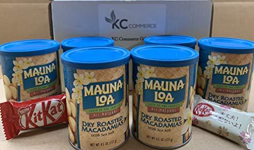 Dry Roasted Macadamia Nuts - Mauna Loa Dry Roasted Macadamia Nut With Sea Salt 4.5 Ounce Pack of 6