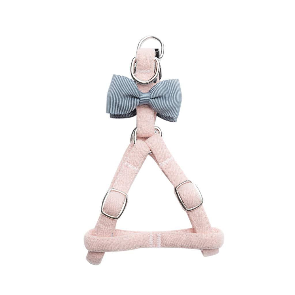 callm Pet Cat Dog Tie Bow Vest Set Chest Straps Belt Set Adjustable