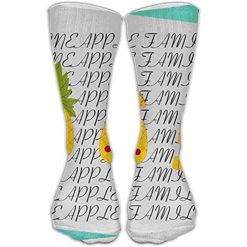 ZHONGJIAN Unisex Knee High Long Socks Pineapple With Sunglasses Pineapple Family Soccer Tube Sock 30cm
