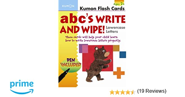 ABC's Write and Wipe Lowercase Letters (Kumon Flash Cards): Kumon ...