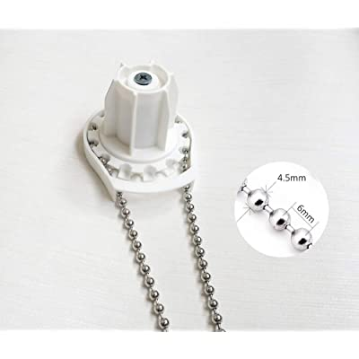 Luanxu 4.5 mm Diameter Stainless Steel Bead Chain for Blinds & Shades with 10 Connectors Pull Ball Chain Great Pulling Force & Rustproof (#10, 10 feet): Home & Kitchen