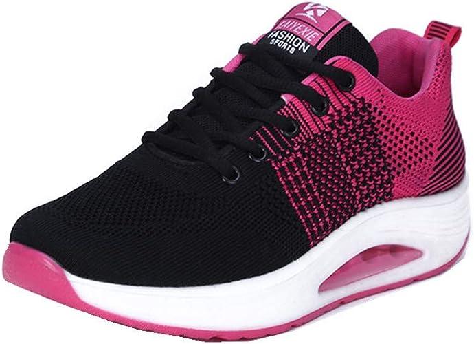 Talon de 6 cm Femme Confortable Basket a Talon Compensee Convient /à Toutes Les Saisons Chaussure Sport Fitness Plateforme Sneakers pour Femmes