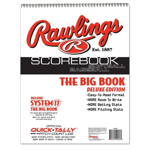 Baseball/Softball Scorebook Big Book with Pitch Count Log (Little League, ASA, Travel Ball, Babe Ruth, High School)