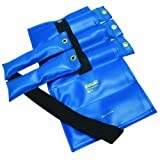 the Cuff 10-0304 Pouch Variable Wrist and Ankle Weight, 20 lb, 5 x 4 lb Inserts, Blue
