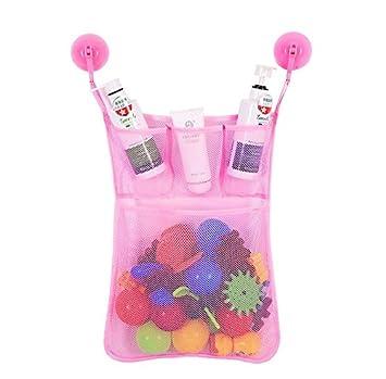 organizador de juguetes de baño, red de malla bolsa de ... - Organizador De Juguetes Para Bano