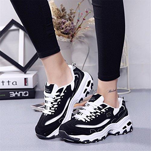Zapatillas para de Aumentar Nuevas Zapatillas la de Cordones Otoño Zapatos Altura con Un Bajas Altura Amantes para Mujer la Zapatillas qRBx1B