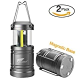 LED Camping Lantern - 2 Pack Camping Lantern, Hausbell Ultra Bright Magnetic Base Portable Collapsible Outdoor LED Lantern Lights - Survival Kit for Emergency, Hurricane, Storm, Power Outage