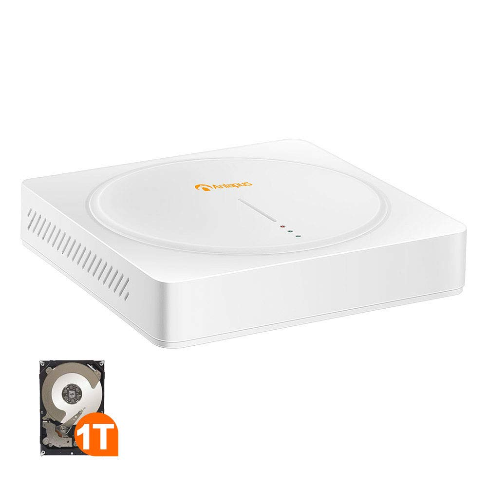 Anlapus 8CH 1080P High Definition Hybrid 4-in-1 TVI DVR Video Recorder with 1TB Hard Drive Motion Detection and Remote Viewing for 720P80P Surveillance Security Camera System