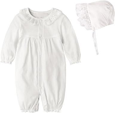PAUBOLI - Conjunto de Gorro y Pijama de algodón para bebé, Color Rosa y Blanco: Amazon.es: Ropa y accesorios