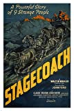 STAGECOACH by John Ford 1939 MOVIE POSTER john wayne 24X36 NEW classic rare (reproduction, not an original)
