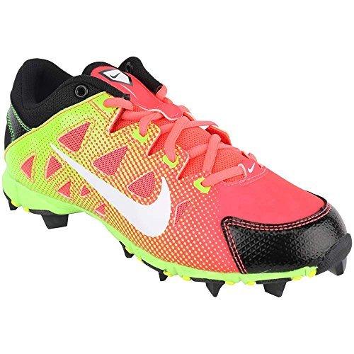 Nike Girls Hyperdiamond Keystone GS Cleat, Atomic Red/Wht-Blck-Elctrc Grn
