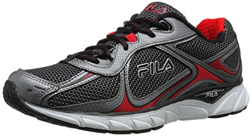 Fila Quadrix las zapatillas de running Black / Dark Silver / Fila Red