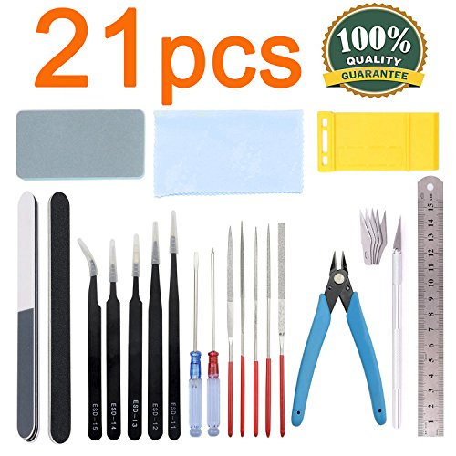 Esoca 21Pcs Gundam Modeler Basic Tools Craft Set Gundam Mode