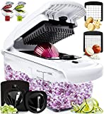 Fullstar Vegetable Chopper - Spiralizer Vegetable Slicer - Onion Chopper with Container