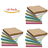 18 Pads/Pack Colorful Sticky Notes, Memo Notes, Self-stick Notes, Lined, 3 Inch X 3 Inch 80 Sheets/Pad,6 Colors