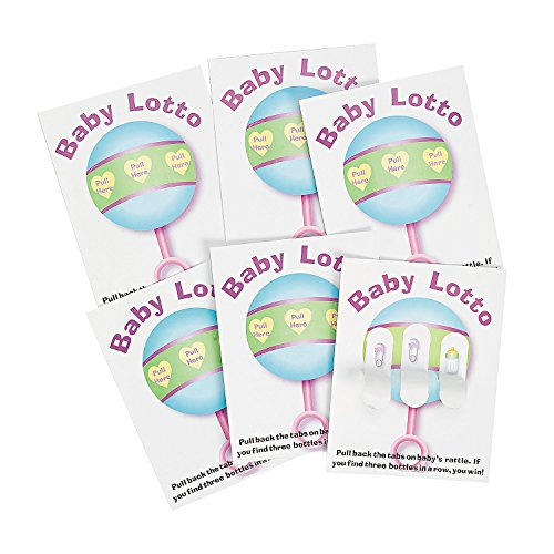 Baby Shower Lottery Raffle Lotto Game Pickle Cards 4.25