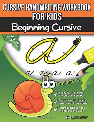 Cursive Handwriting Workbook for