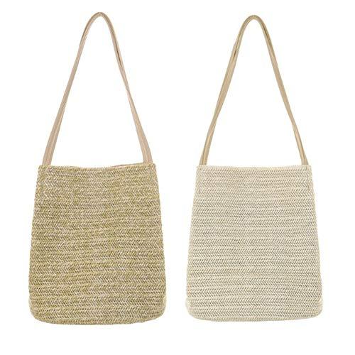 paille main épaule paille de Beige sac tissé Portable Sac match à sac sac Occasionnel de sac unique tout bandoulière à portable qIZwH
