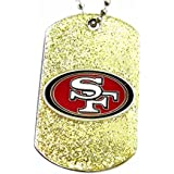 aminco San Francisco 49ers Dog Fan Tag Glitter Necklace