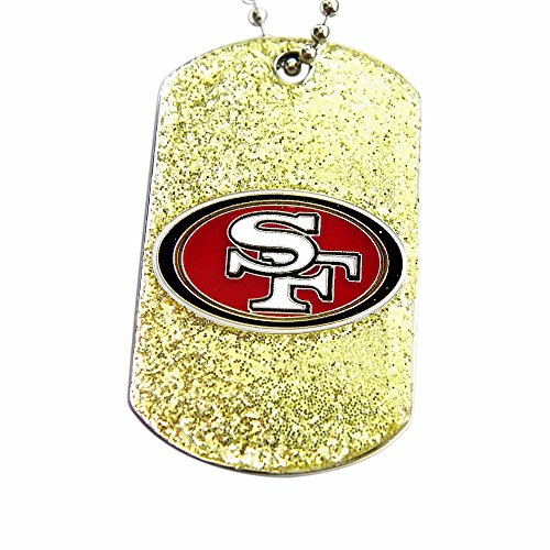 San Francisco 49ers Dog Fan Tag Glitter Necklace (Francisco San Pendant Logo 49ers)