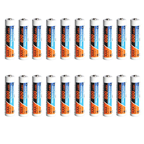 PowerDriver 20 Pack AAA Ni-MH NiMH Rechargeable Batteries for Solar Lamp Digital Cameras ()