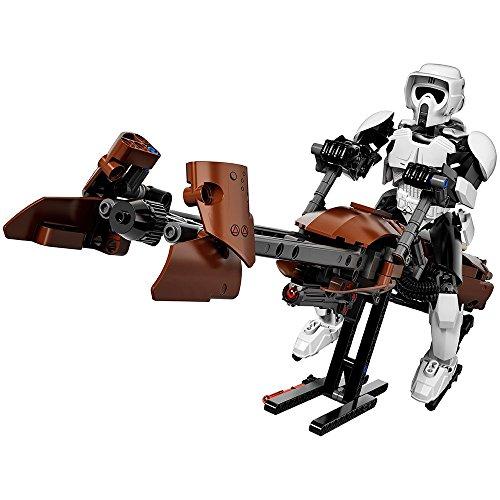 Scout Wars De Star Trooperamp; Bike Juego Construcción Speeder Lego CthQdrs