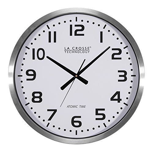 Atomic Analog Clock Lacrosse - La Crosse Technology 404-1220 20 inch Extra Large Atomic Wall Clock
