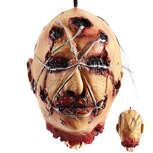 Lifesize Halloween Props - LITTLEGRASS Halloween Props Scary Hanging Severed