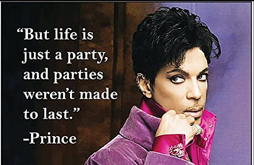 Prince Life is Just a Party Enamel Pin Badge