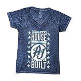 WWE AJ Styles The House That AJ Styles Built Acid Wash Women's T-Shirt Navy Blue XL