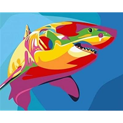 "iCoostor Paint by Numbers DIY Acrylic Painting Kit for Kids & Adults Beginner – 16"" x 20"" Whale Pattern: Toys & Games"