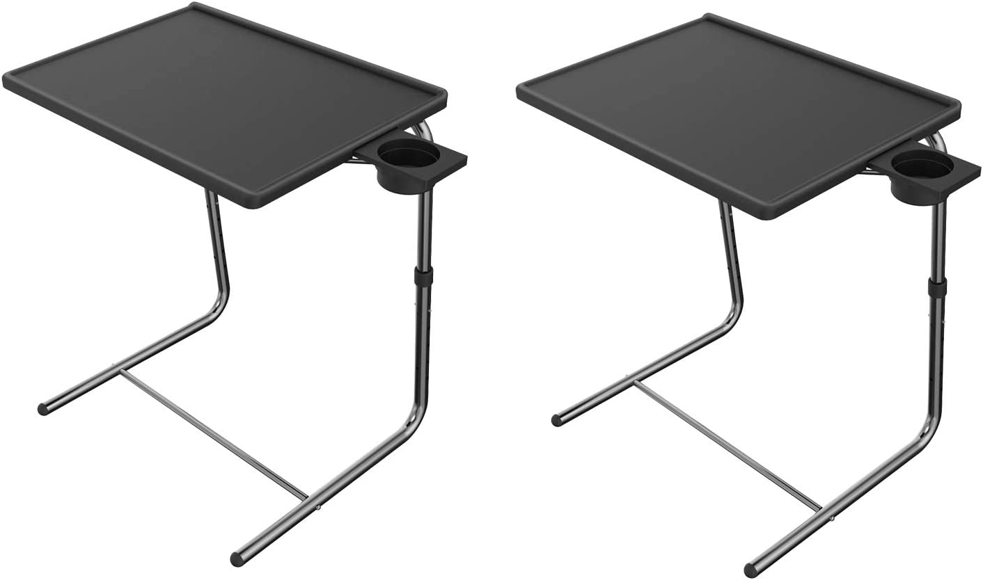 - Amazon.com: Adjustable TV Tray Table - TV Dinner Tray On Bed