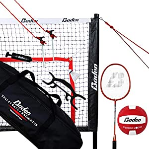 Baden Champions Volleyball Badminton Combo Set