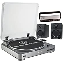Audio Technica AT-LP60-USB Turntable w/ Samson BT3 2-way Bluetooth Monitors