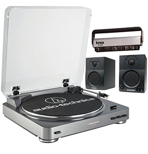 Audio-Technica AT-LP60-USB Turntable w/Samson BT3 2-Way Moni