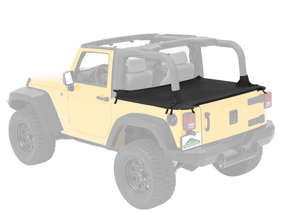 Pavement Ends by Bestop 41827-35 Black Diamond Cargo Cover for Wrangler JK 2-door
