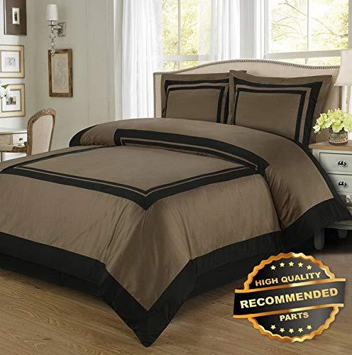 Sandover 高級コットン100% ホテル布団カバーセット サイズ| スタイル DUV-5301218201 Full/Queen B07MTQ8GBZ Color-163/Color-15 Full/Queen