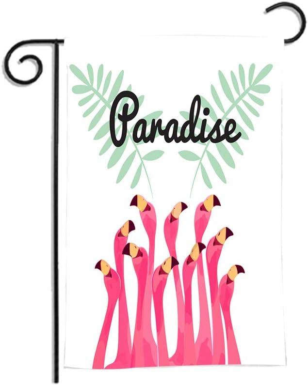 Amazon Com Flamingo Garden Flag Yard Flag Vertical Double Sided Seasonal Polyester Fabric Durable Welcome Farmhouse Home Decor Banner Outdoor Flag 12 X 18 Inches Garden Outdoor