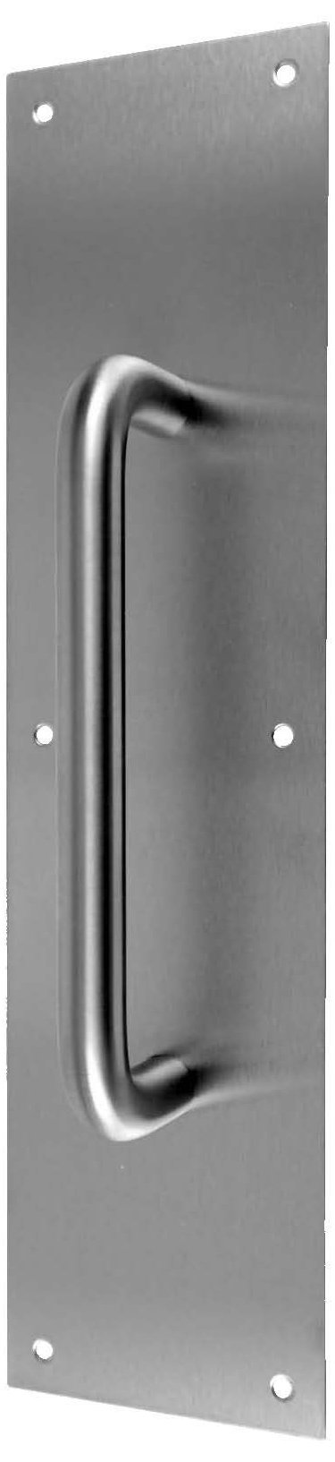 Don-Jo 7015 Aluminum Pull Plate with 3/4'' Round Pull, Satin Anodized Aluminum Finish, 3-1/2'' Width x 15'' Height by Don-Jo