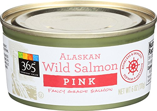 365 Everyday Value, Alaskan Wild Salmon Pink, 6 oz (Best Wild Caught Canned Salmon)