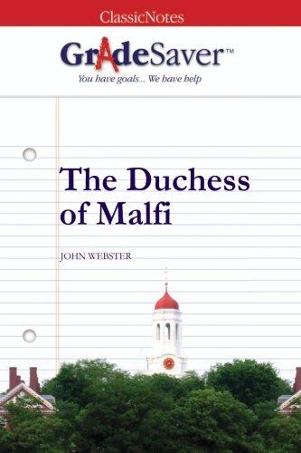 GradeSaver (TM) ClassicNotes: The Duchess of Malfi