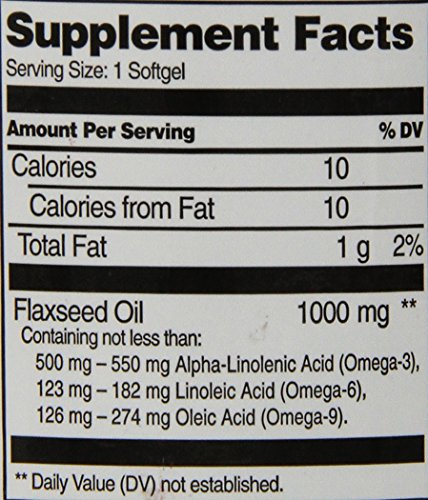 21st Century Flaxseed Oil 1000 mg Softgels, 120 Count by 21st Century (Image #1)