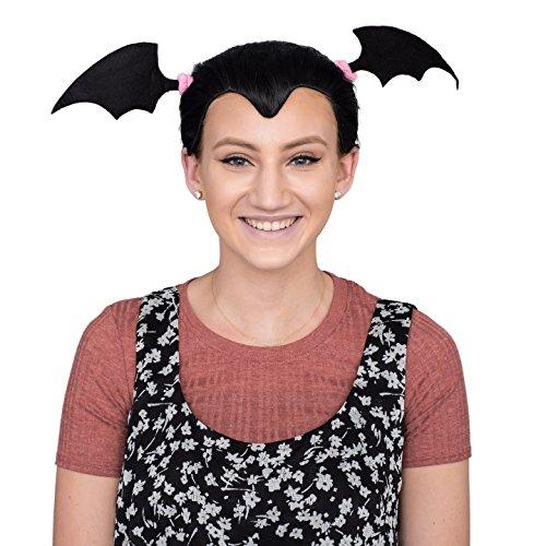 Lady Vampire Costume Accessory Black Deluxe Wig ()