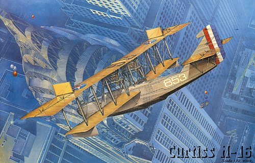 Roden Curtiss H-16 Early US Navy Twin-Engine Biplane Flying Boat Airplane Model Kit