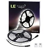 LE 12V Flexible Waterproof LED Strip Lights, 6000K Daylight White, 150 Units 5050 LEDs, 109lm/ft, Light Strips, Pack of 5M