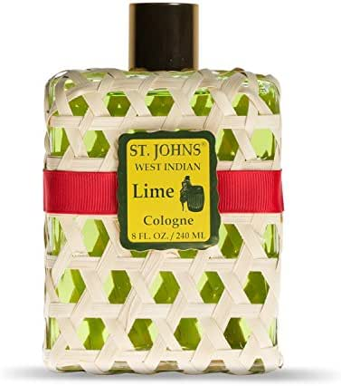 West Indian Lime Cologne for Men in 8 Oz Splash. Fresh, Pure Lime with Vetiver Oil and Orange. Handcrafted in St. Thomas, U.S. Virgin Islands