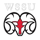 CollegeFanGear Winston Salem Large Decal 'WSSU Ram'