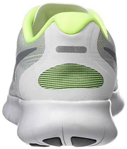 Nike Free Run 2017, Zapatillas de Entrenamiento para Mujer Gris (Wolf Grey/cool Grey-pure Platinum-volt)
