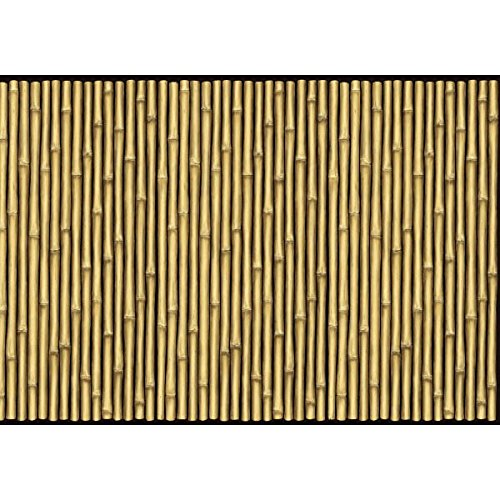 - Amscan Sun-Sational Summer Luau Party Bamboo Scene Setter Room Roll, Bamboo Brown, 47.24 inches x 480.315 inches