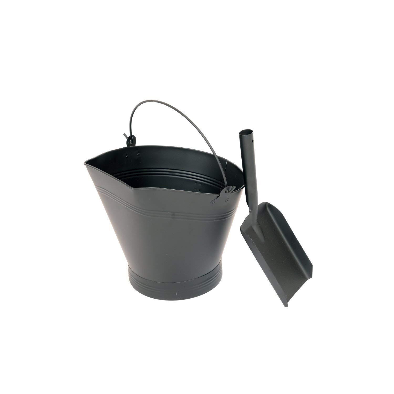 Oypla Heavy Duty Steel Fireplace Coal Bucket Scuttle Hod with Shovel